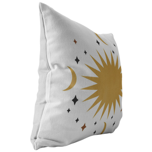 Accent Pillow, Moon Star Celestial Decor