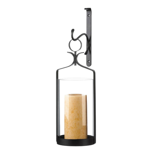Wall Sconce, Hanging Hurricane Glass Wall Sconce