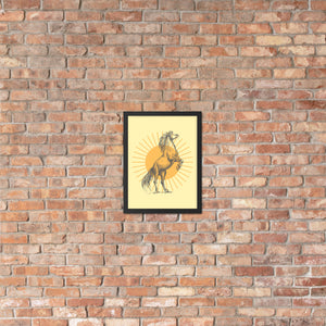Framed Art, Poster, Sunburst Horse Poster, Wall Decor, Wall Art