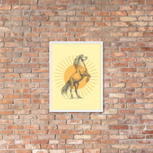 Load image into Gallery viewer, Framed Art, Poster, Sunburst Horse Poster, Wall Decor, Wall Art
