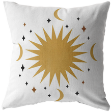 Load image into Gallery viewer, Accent Pillow, Moon Star Celestial Decor