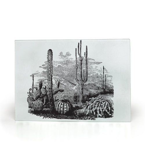 Glass Cutting Board, Midwest, Desert Scene Serving Tray