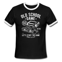 Load image into Gallery viewer, Gaming, Ringer T-Shirt, Old School, Vintage Style Tee, T-Shirt, Retro - black/white