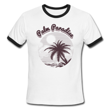 Load image into Gallery viewer, Palm Paradise, Ringer T-Shirt, Travel, Vintage Style Tee, T-Shirt, Ringer - white/black
