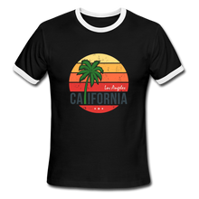 Load image into Gallery viewer, LA, California, Ringer T-Shirt, Vintage Style Tee, T-Shirt, Beach - black/white