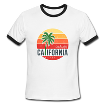 Load image into Gallery viewer, LA, California, Ringer T-Shirt, Vintage Style Tee, T-Shirt, Beach - white/black