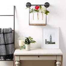 Load image into Gallery viewer, Wall Vase, Wall Planter, Hanging Wall Shelf with Propagation Vases