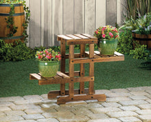 Load image into Gallery viewer, Plant Stand, Zigzag Pallet Plant Stand, Wooden Stand, Plant Holder