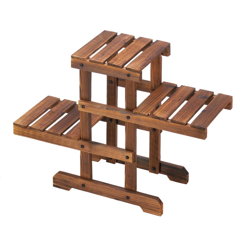 Plant Stand, Zigzag Pallet Plant Stand, Wooden Stand, Plant Holder