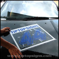 installing decal sticker