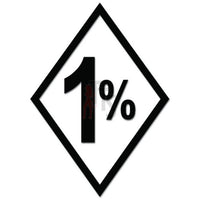 1 Percenter 1%er Biker Decal Sticker Style 1