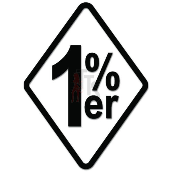 1 Percenter 1%er Biker Decal Sticker Style 2