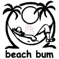 Beach Bum Palm Trees Decal Sticker