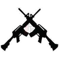 Crossed Assault Rifle AR-15 Gun Decal Sticker