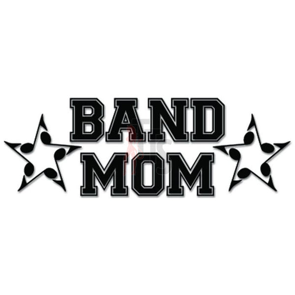 Band Mom Stars Music Notes Decal Sticker