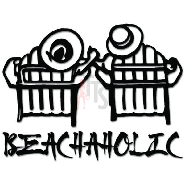 Beachaholic Beach Love Decal Sticker Style 1