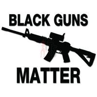 Black Guns Matter 2nd Amendment Decal Sticker Style 2