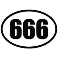 666 Devil Number Satan Decal Sticker