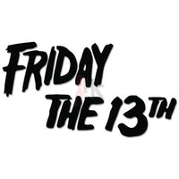 Friday The 13th Halloween Decal Sticker