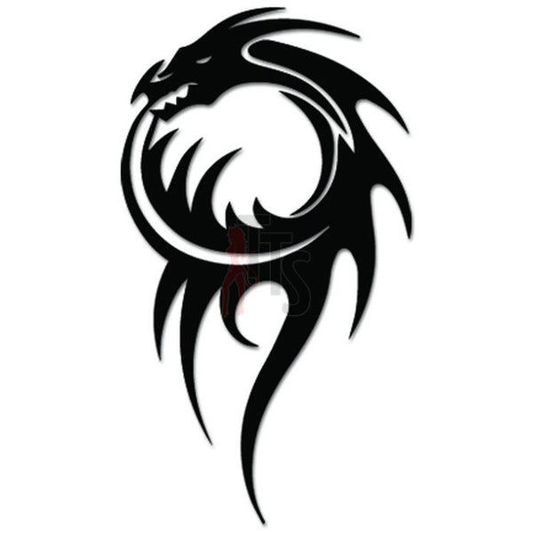 Tribal Dragon Tattoo Decal Sticker Style 2