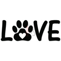 Love Dog Paw Pet Decal Sticker
