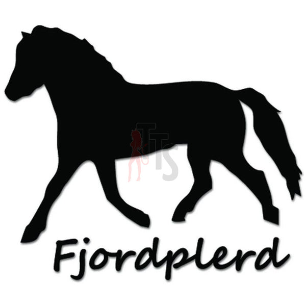 Fjordpferd Horse Decal Sticker