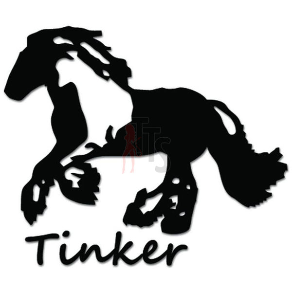 Tinker Gypsy Cob Horse Decal Sticker