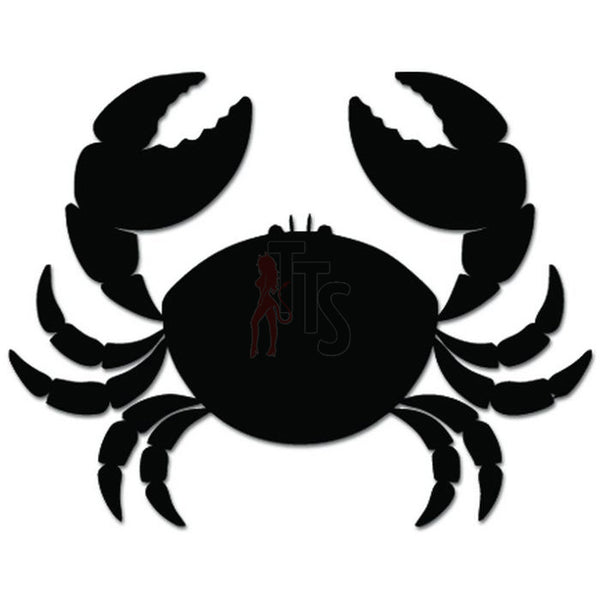 Cute Crab Pinchers Animal Decal Sticker