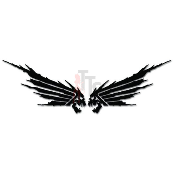 Wings Devil Skull Motorcycle Scooter Decal Sticker