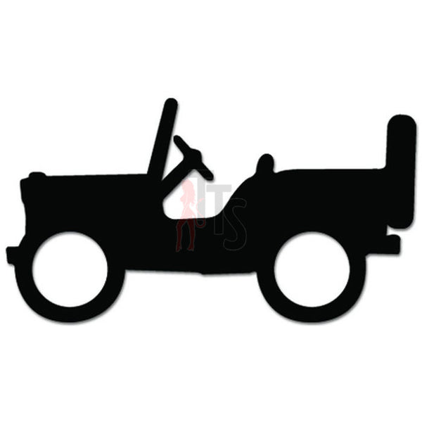 Mini Jeep Willys Thunderbird Decal Sticker Style 1