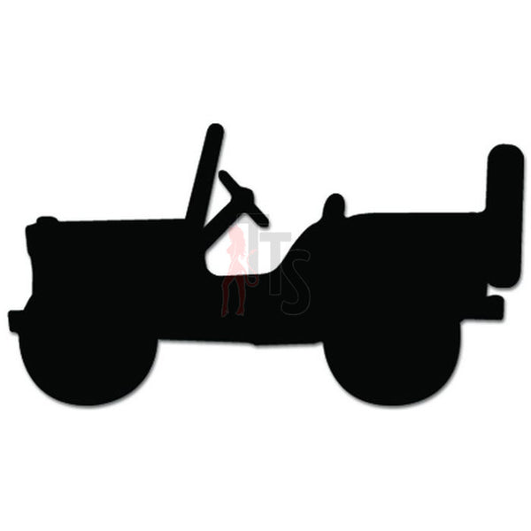 Mini Jeep Willys Thunderbird Decal Sticker Style 2