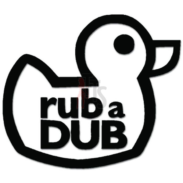 Rub A Dub Duck Nursery Rhyme Decal Sticker