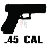 45 Caliber Gun Pistol Decal Sticker