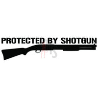 Protected By Shotgun Gun Decal Sticker