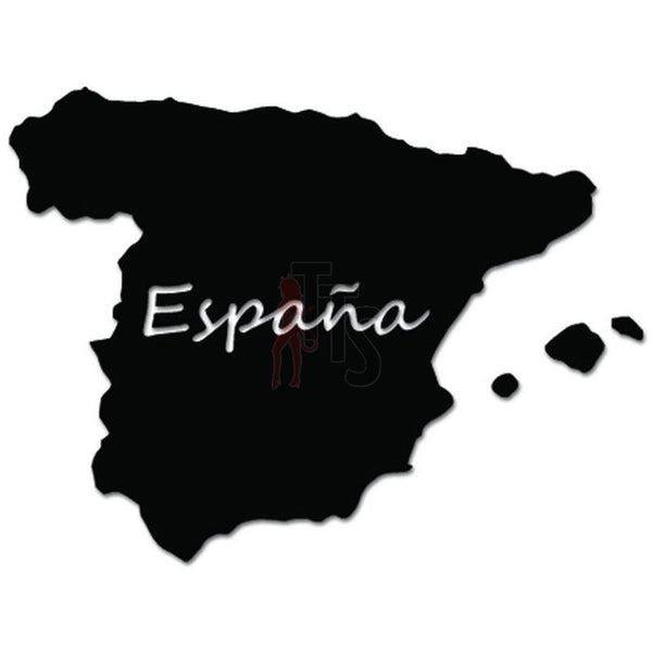 Espana Spain Country Map Decal Sticker