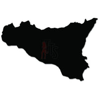 Sicily Country Map Decal Sticker