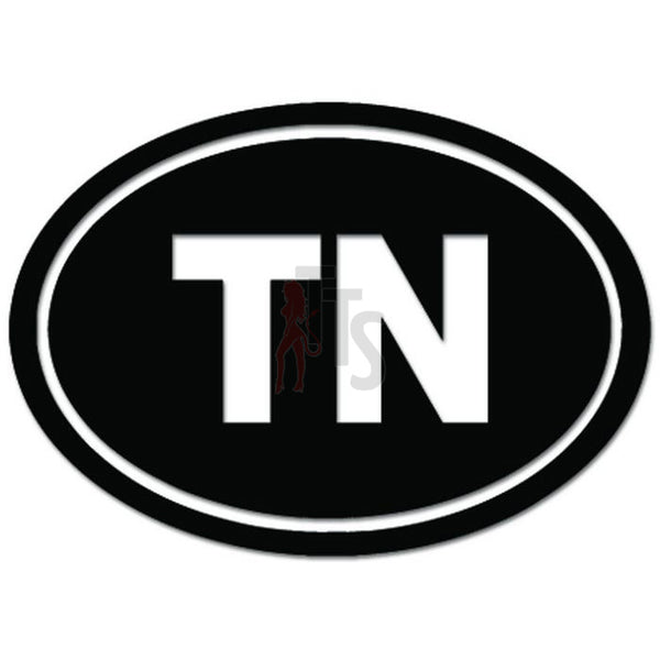 Tennessee State TN Abbreviation Oval Decal Sticker