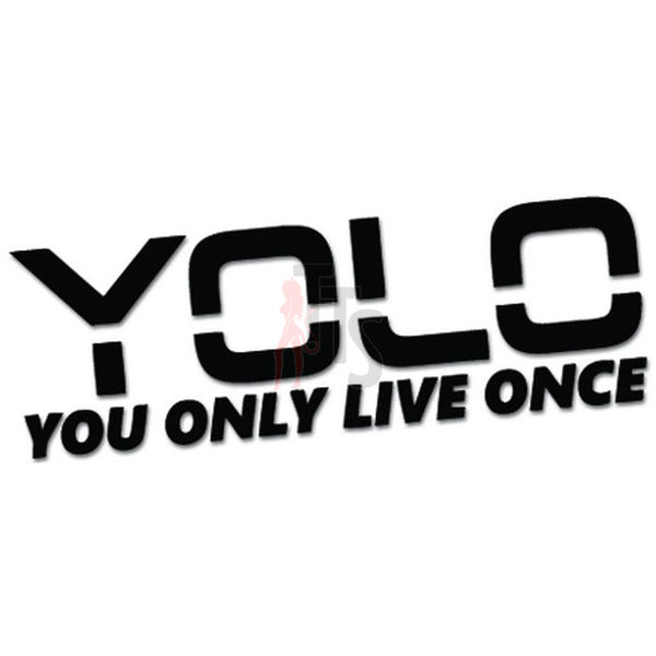 YOLO You Only Live Once Meme Decal Sticker
