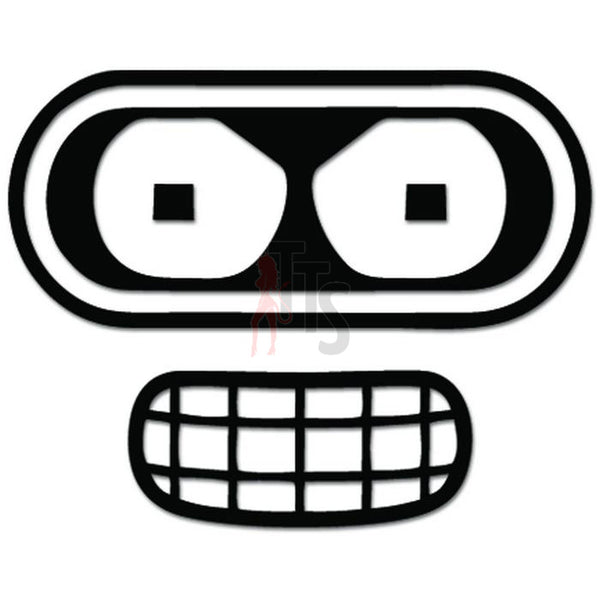 Bender Face Decal Sticker