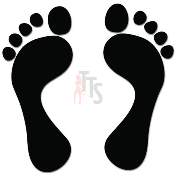 Footprint Foot Feet Decal Sticker