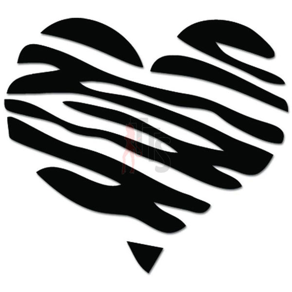 Heart Love Striped Decal Sticker
