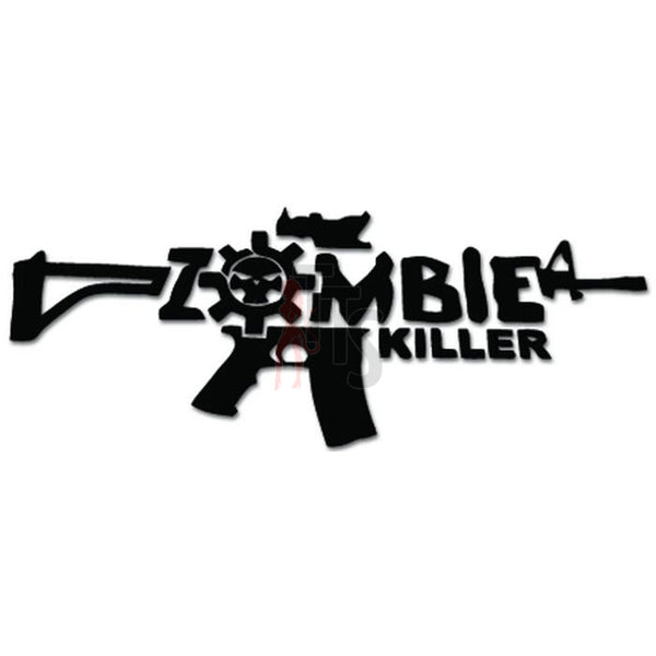 Zombie Killer AR-15 Assault Rifle Decal Sticker
