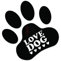 Dog Love Paw Pet Decal Sticker