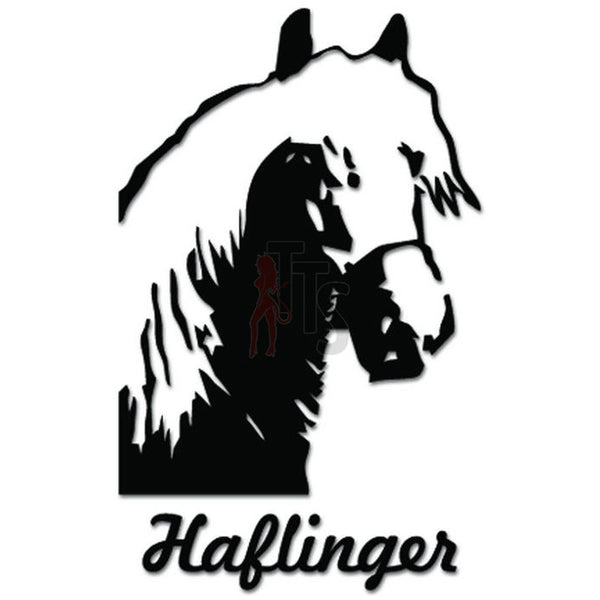 Haflinger Horse Decal Sticker Style 2