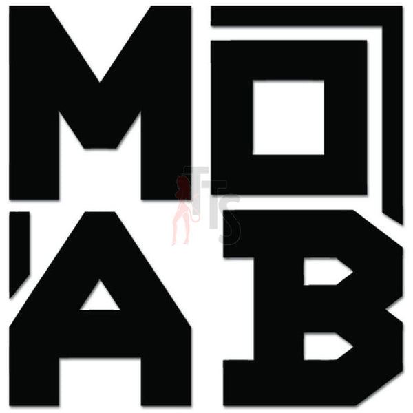 Jeep MOAB Off Road 4x4 Decal Sticker