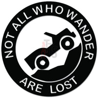 Not All Who Wander Are Lost Jeep Mountain Decal Sticker