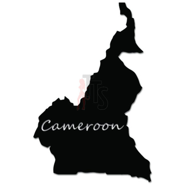 Cameroon Africa Country Map Decal Sticker
