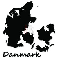 Denmark Danmark Country Map Decal Sticker