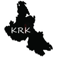KRK Island Croatia Map Decal Sticker