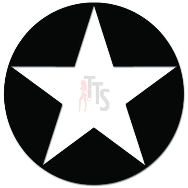 US Military Army Star Decal Sticker